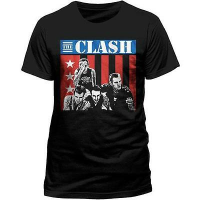 The Clash - In US Mens Short Sleeve Cotton T-Shirt - New & Official