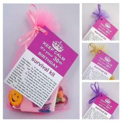 30th 40th 50th 60th BIRTHDAY PRESENT SURVIVAL KIT PERSONALISED FUN NOVELTY GIFT