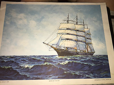 Vintage 1926 Queen Of The Sea Picture