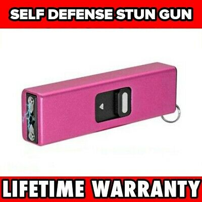 PINK TACTICAL SELF DEFENSE 999 MV MINI RECHARGEABLE POLICE STUN GUN Keychain NEW
