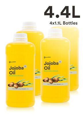Bulk Jojoba Oil 4.4L 100% Pure Virgin From Only $5.22 Per 100Ml - Free Shipping