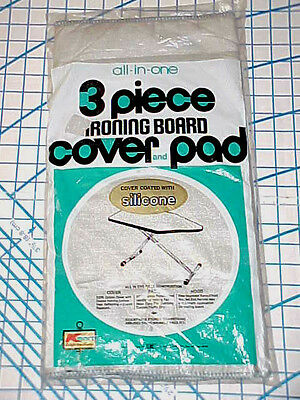 Vintage Ironing Board Cover,Pad Silicone Retro K-Mart Hood End Drawstring USA