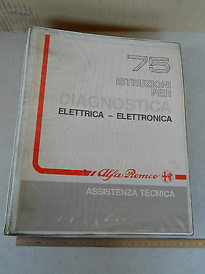 Manuale Officina Origin. Alfa Romeo Diagnosi Elet. 75 Turbo V6 T. Spark 4 Cil