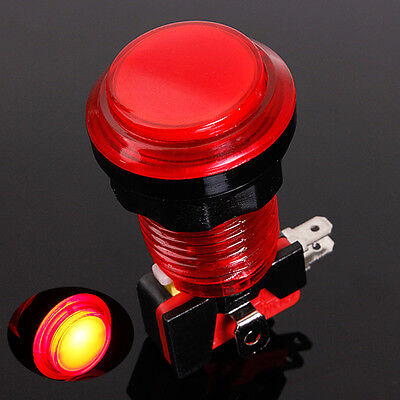 5/12v Red LED Light 24mm Round Illuminated Arcade Video Game Push Button Switch