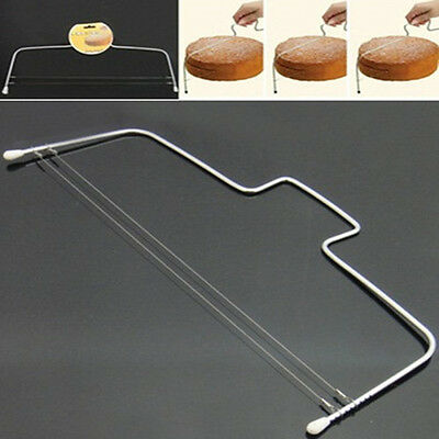 Cake Cutter Leveller Decorating Bread Wire Slicer Cutting Adjustable Decor Tool