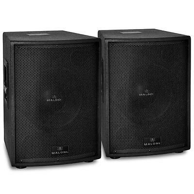 "Two Brand New Live Pa Active Sub Woofer 12"" 750W - Black * Free P&p Uk Offer *"