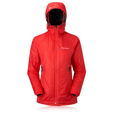 Montane Prism Womens Red Windproof Warm Full Zip Hooded Outdoors Sports Jacket