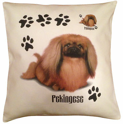 Pekingese  Paws Cotton Cushion Cover - Cream or White Cover - Gift Item