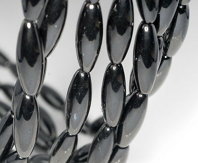10 German Vintage Pressed Glass Opaque Matte Black 3 Sided Oval Beads *