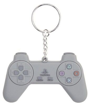 Sony PlayStation PS1 One Controller Rubber Keychain Keyring (Official New)