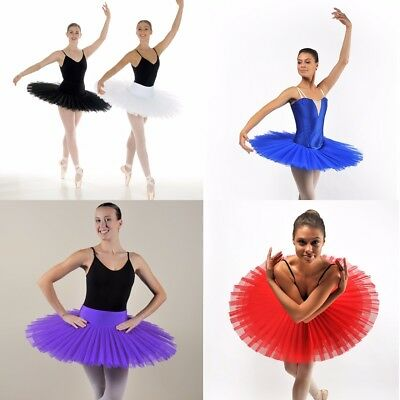 Professional Ballet Platter Pancake Tutu Black Purple Red Royal Blue White wire