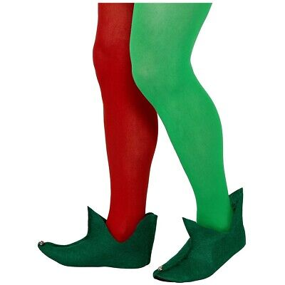 Elf Boots Adult or Teen Green Medieval Jester Shoes Christmas Costume Accessory