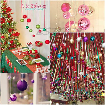 12 Pcs Round Christmas Balls Baubles XMAS Tree Hanging Ornament Home Party Decor