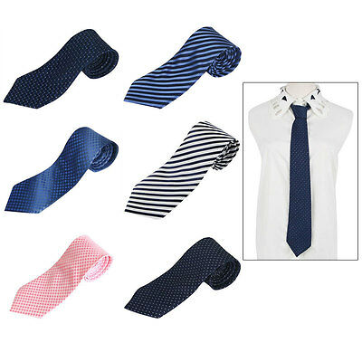 MENS SKINNY TIE wedding thin narrow slim formal necktie neck Dot/Striped/Woven