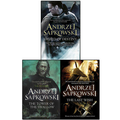Witcher Series 3 books Set collection Towers of the swallow, The Last Wish NEW