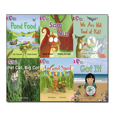 Collins Big Cat Reading Lions Phonics Level 1 Collection Read at Home 6 Book Set