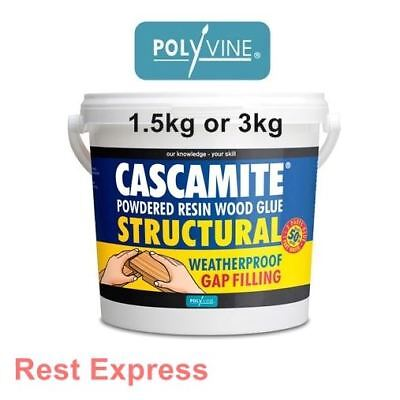 Polyvine CASCAMITE Structural Powdered Resin Wood Glue Adhesive - 1.5kg or 3kg