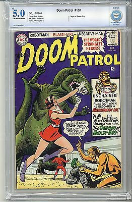DOOM PATROL #100 CBCS (Not CGC) 5.0 OFF-WHITE/WHITE PAGES FREE SHIPPING