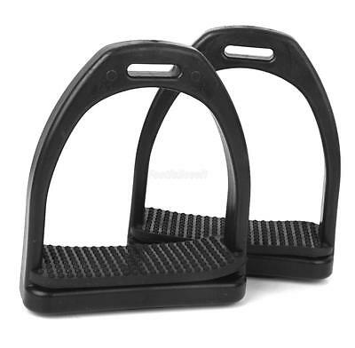 Safety Plastic Stirrups Horse Riding Equestrian Rubber Treads Light Weight
