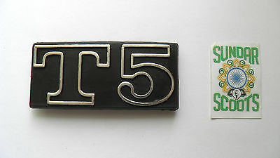 Chromed Plastic Frame Badge . Suitable For The Vespa T5 Scooter