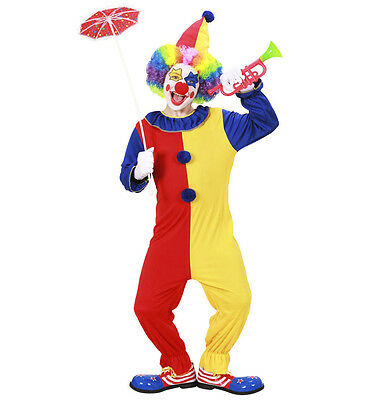 Childrens Clown Fancy Dress Costume Circus Outfit 158Cm 11-13 Yrs