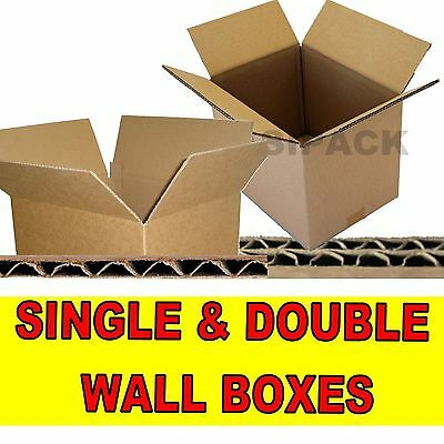 New Single & Double Wall Cardboard Postal Boxes - Made From Pure Kraft Paper