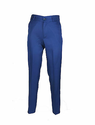 UK Boys Formal Blue Trousers For Suits Kids Plain Blue Trousers For Suit