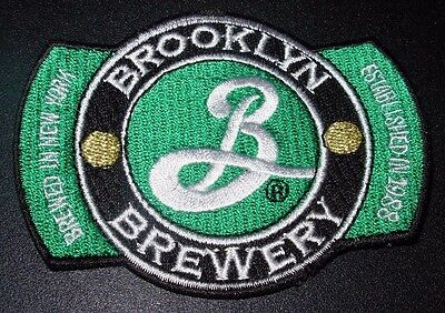 BROOKLYN BREWERY Brewed In NY LOGO PATCH sew on craft beer brewing colorado