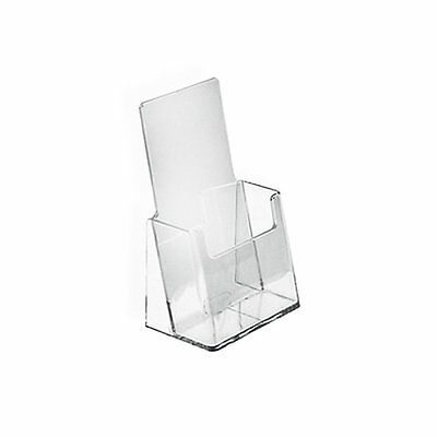 Small Brochure Holder Counter Trifold Display Clear Acrylic 10 Pack ZM