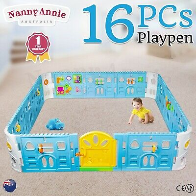 Baby Playpen With Door - Super Giant Interactive Play Pen Safety Gate 2.3 x 2.3m