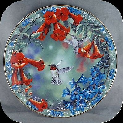 Janene Grende Brilliant Moment Precious Visions Humming bird Collector Plate