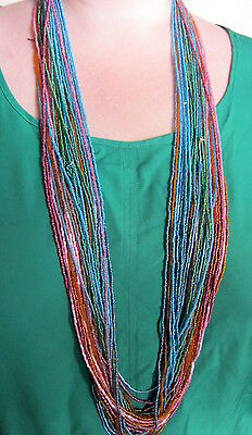 Large quantity of Coloured Bead Necklaces Fashion Craft