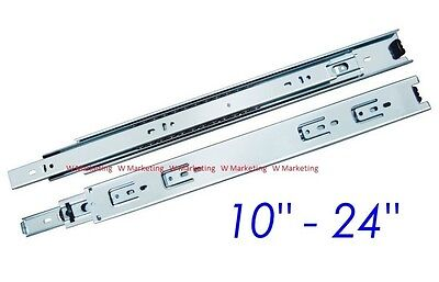 "10""-24"" Full Extension 100-lb Ball Bearing Drawer Slides (1 Pair) SL02"