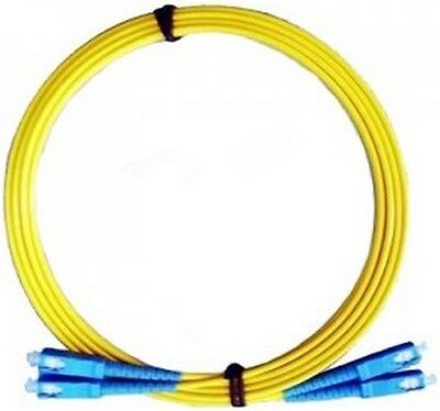 Patchcord duplex SC-SC SM 3.0mm yellow LSZH 10m