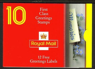 Gb 1992 Kx4 Greeting Stamps Memories 10 X 1St Class Barcode Booklet