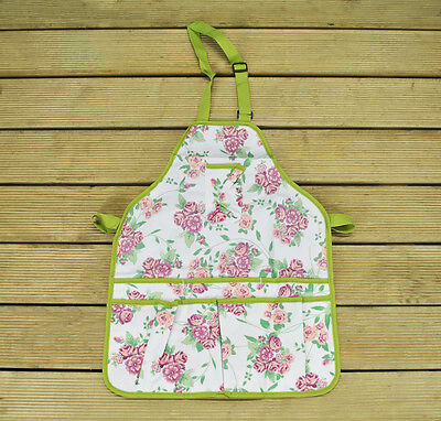Gardening Apron With Rose Design By Fallen Fruits