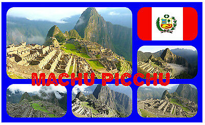Machu Picchu, Peru (South America) - Souvenir Novelty Fridge Magnet - New - Gift