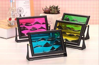 3D Moving Sand Glass Liquid Picture Photo Frame Birthday Hourglass Special Gift