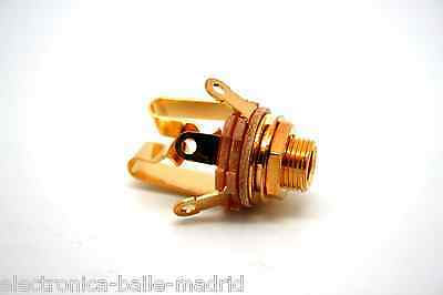 "GENUINE SWITCHCRAFT 6.35mm 1/4"" JACK TYPE #12B STEREO - GOLD PLATE CONTACTS!"