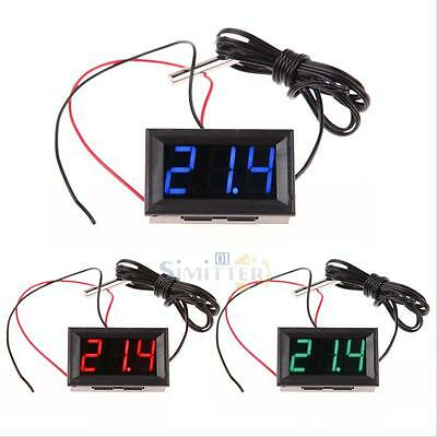 DC 12V LED Digital Thermometer with Temp Probe -50~110°C Temperature Detector