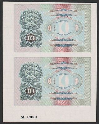 Estonia 10 Krooni 1940 PROOF UNCUT PAIR  RARE