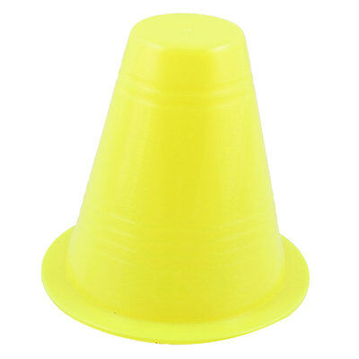 "Plastic Road Signs Marks Roller Skating Pile 3.1"" Height Yellow for Skaters"