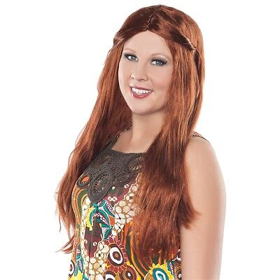 WOMEN S HIPPIE WIG Adult 60s 70s Halloween Costume Accessory ... c69a604dc9