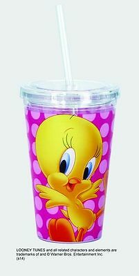 Tweety Bird 16 oz Acrylic Double Wall  Insultated Travel Cup In Gift Box Cartoon