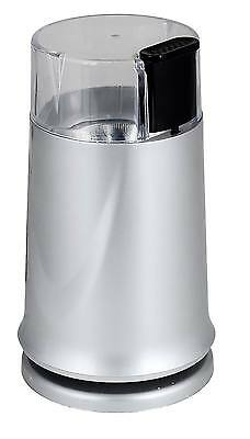 150W Silver Electric Whole Bean Auto Coffee Grinder Mill & Nut Spice Twin Blade