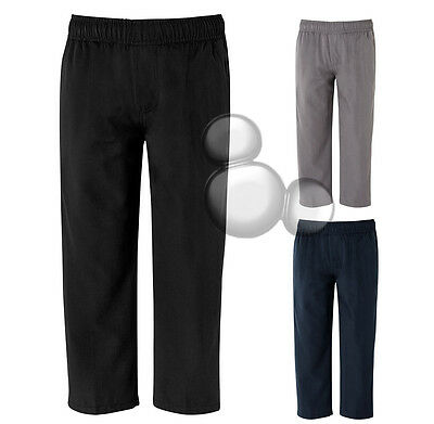 Kids School Pants Size 4 6 8 10 12 14 S M L XL 2XL Black Navy Grey New