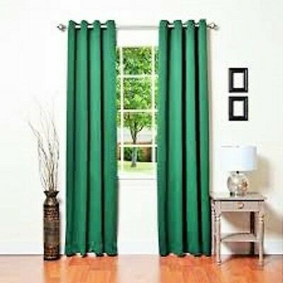 """1 Green Panel Thermal Lined Blackout Grommet Window Curtain K32 95"""""""