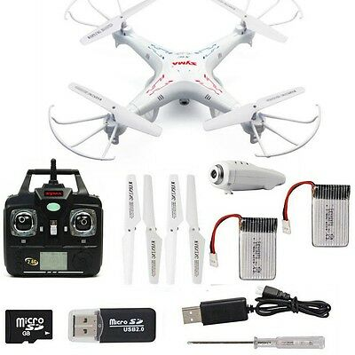 Syma X5C-1 6-Axis 2.4G Gyro RC Drone Quadcopter RTFW/2MP HD Camera+Spare Battery