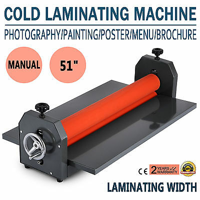 "51"" 1300Mm Cold Laminator Laminating Machine Wide Format Photo 4 Roller"