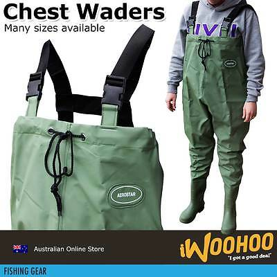 Fishing Chest Wader PVC Waterproof Rubber Boot Chest Waders